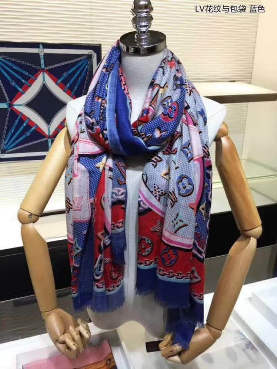 LV Cashmere Pop Monogram Women Scarves