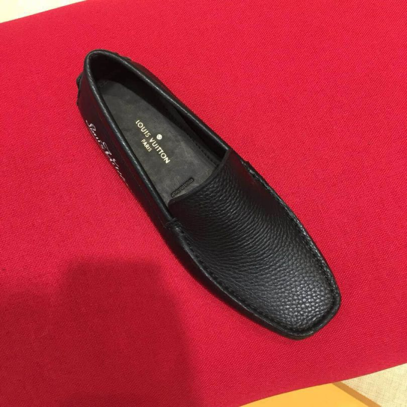 2018 LV Leather Men Loafers