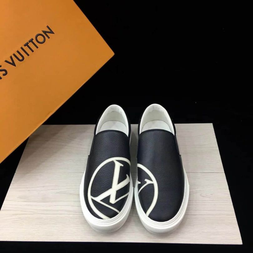 LV Leather logo Men Sneakers