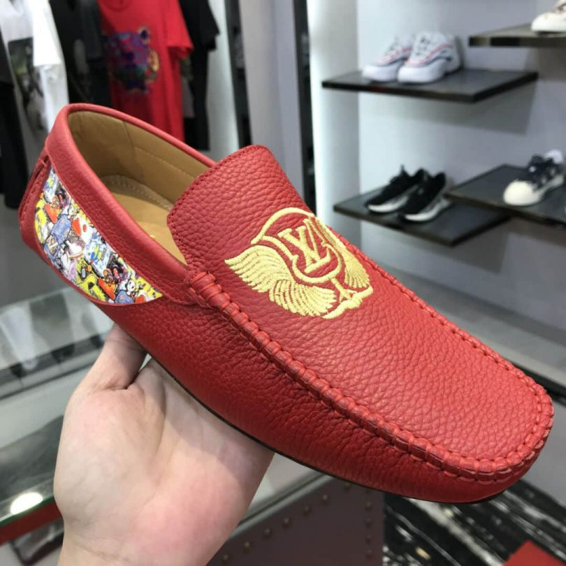 LV Leather Men Loafers