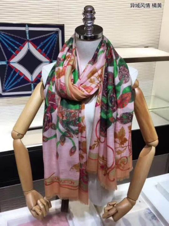 2018 LV Time Trunk Monogram Cashmere Women Scarves