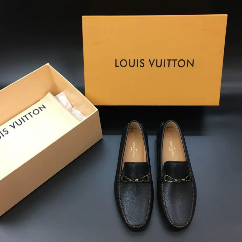 LV Leather logo Causal Shoes Men Driver Shoes