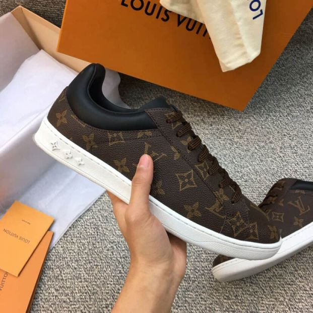 LV Monogram Eclipse Canvas Causal Shoes Men Sneakers