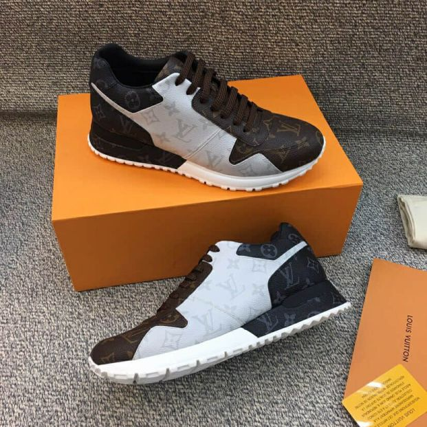 LV Canvas Leather RUN AWAY Men Sneakers