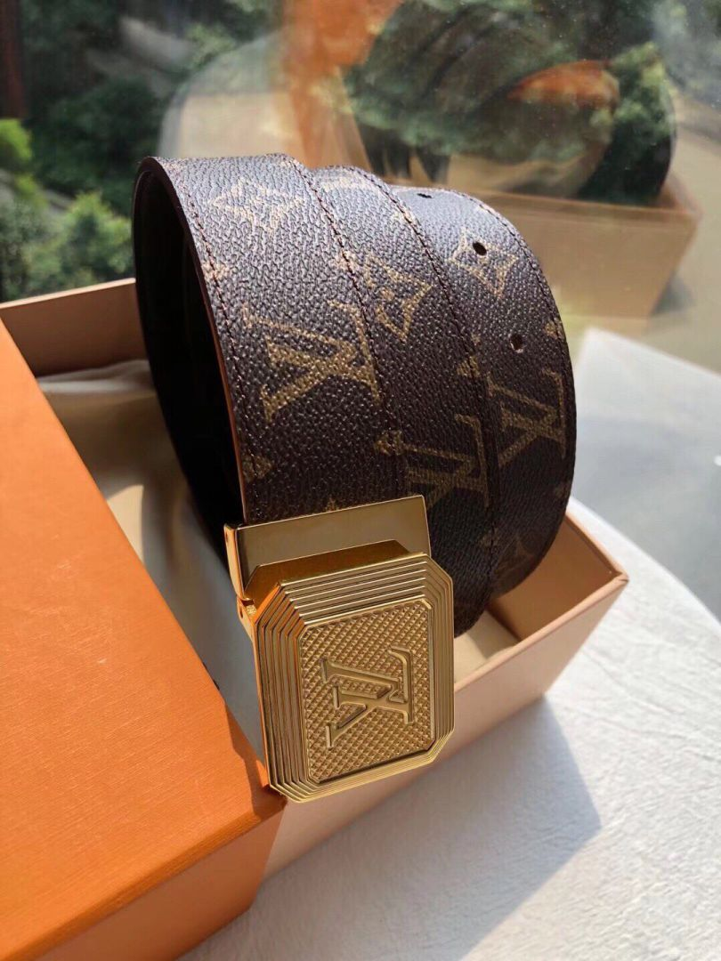 LV Classic Leather 3.5cm Men Belts