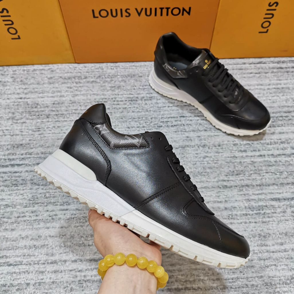 LV Leather Run Away Men Sneakers