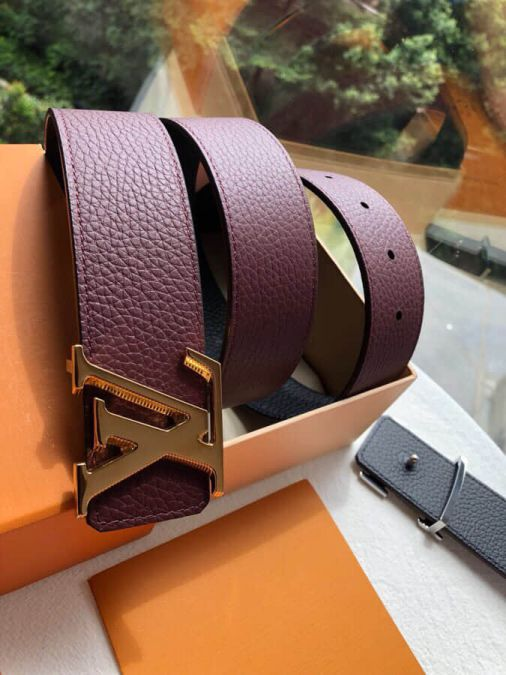 2018 LV Tilt Metal Buckle Reversible Classic 40MM Men Belts