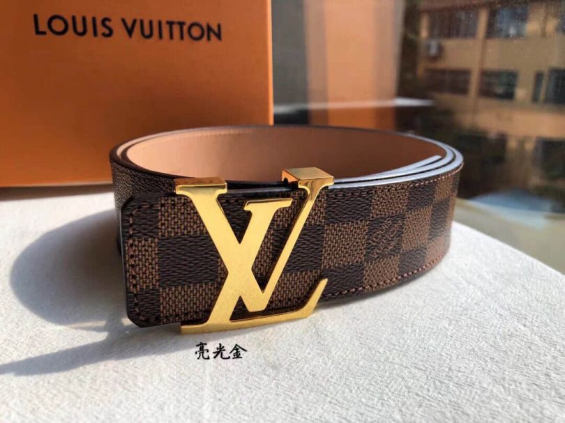 LV Metal Buckle Classic Men Belts