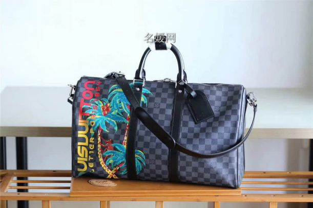 LV 2018 Print Keepall 45 N50002 Travel Bags