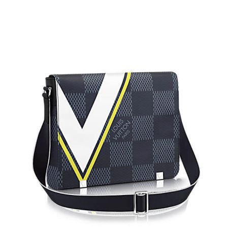 America's Cup LV N44004 District Medium Damier Latitude Print Shoulder Bags
