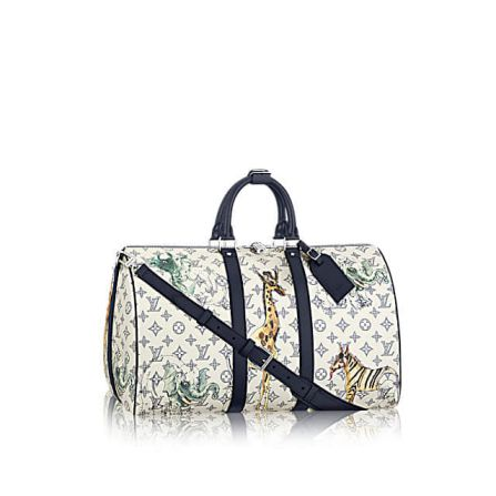 LV KEEPALL 45 with Shoulder Strap Monogram Other Print M41449 Travel Bags