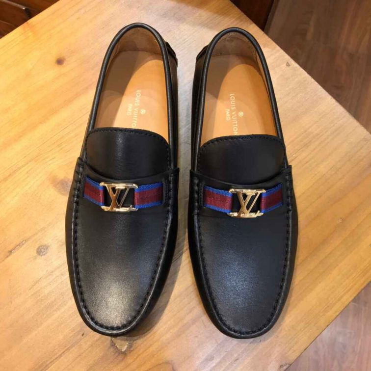 LV 2019SS Black Men Leather Shoes