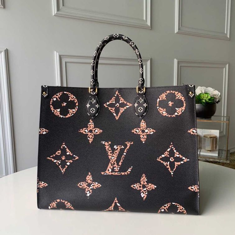 LV 2019 NEW ONTHEGO LOGO M44674 Women Tote Bags