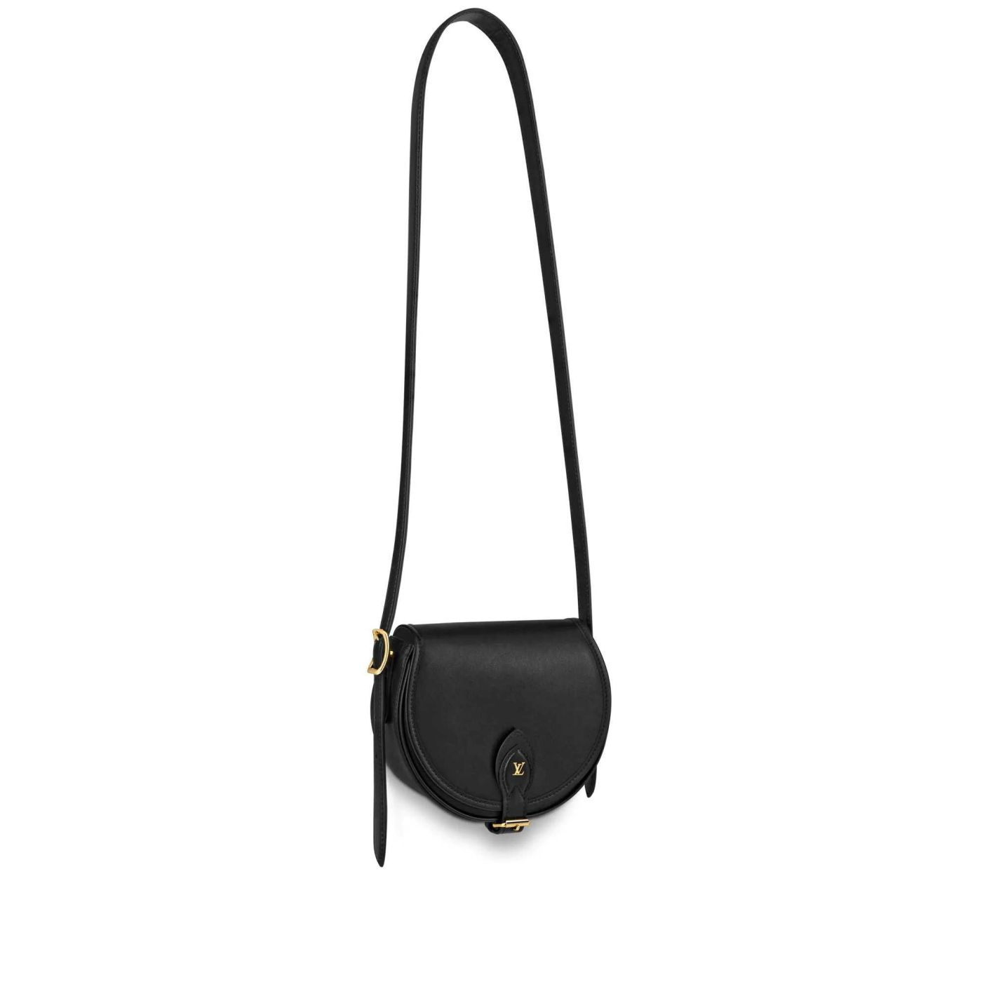 LV 2019 NEW Tambourin Leather Saddle M55505 Women Shoulder Bags