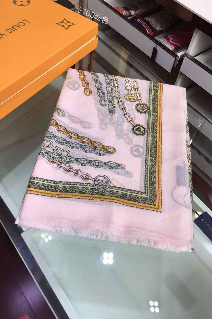 LV 100% Cashmere Monogram Women Scarves