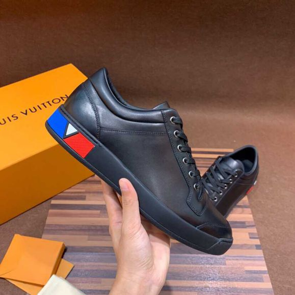 LV Men Casual Leather Shoes