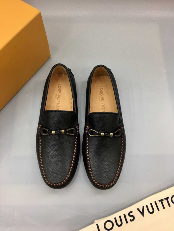 LV Leather logo Men Casual Shoes
