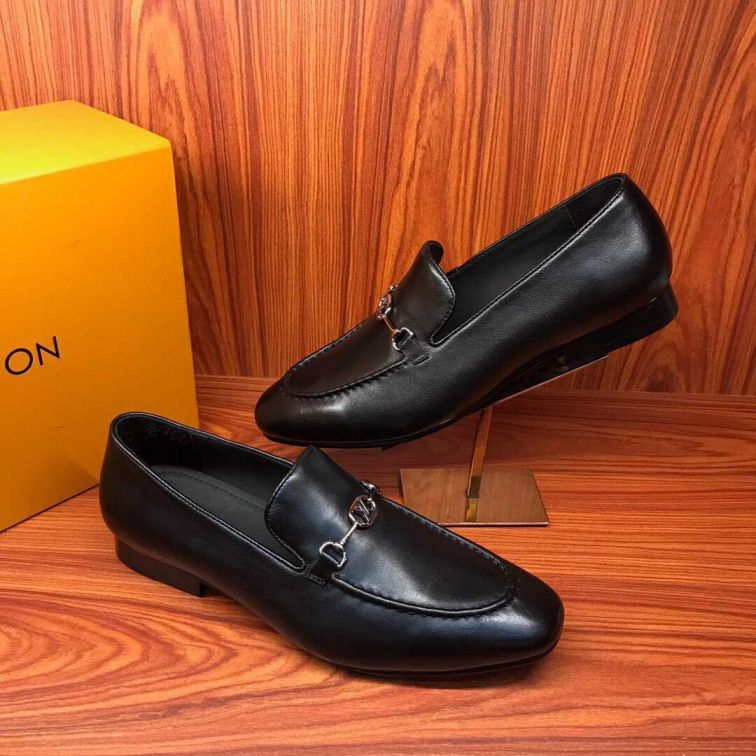 LV 19 FW Men Leather Shoes