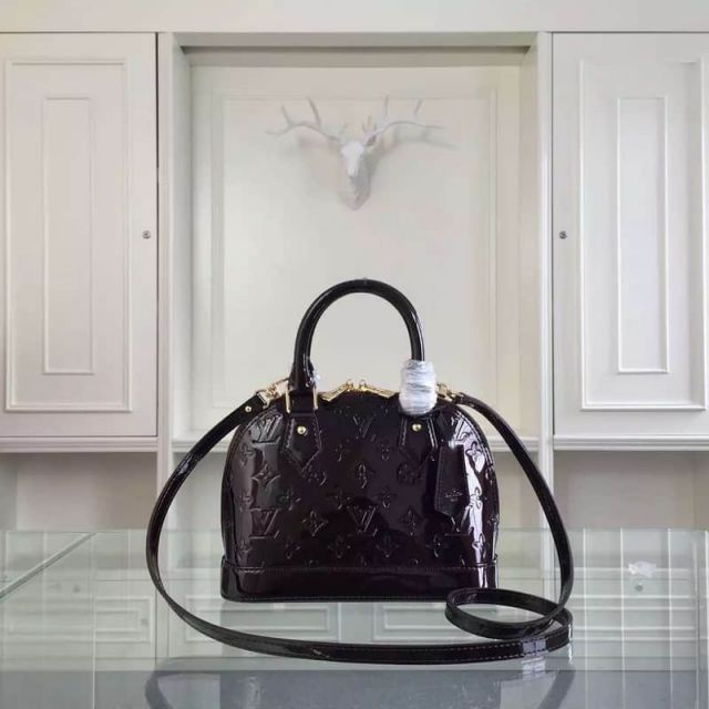 LV Shoulder Bags 91585 Patent Leather