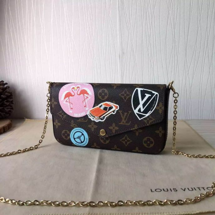 LV Shoulder Bags FELICIE Crossbody On Chain M61245