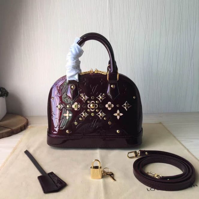 LV Tote Bags Patent Leather ALMA BaB Crossbody M90988