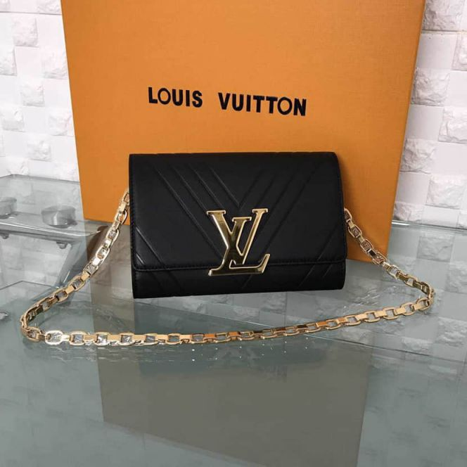 LV Shoulder Bags POCHETTE LOU*SE GM On Chain M54113