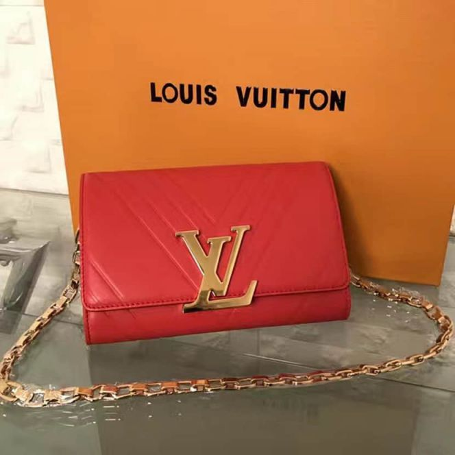 LV Shoulder Bags POCHETTE LOU*SE GM On Chain M54230