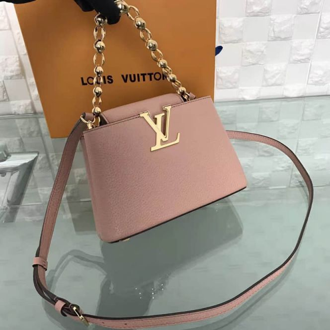 LV Shoulder Bags Capucines On Chain Taurillon M42935