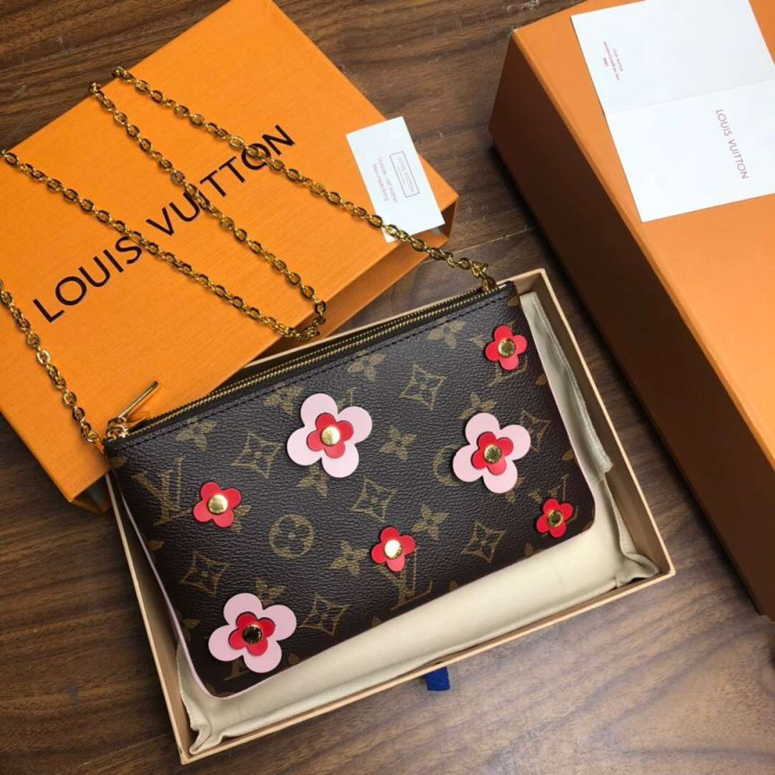 LV Shoulder Bags Pochette Double Zip Woc On Chain M63905