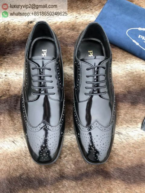 PRADA 2018 Men Leather Shoes
