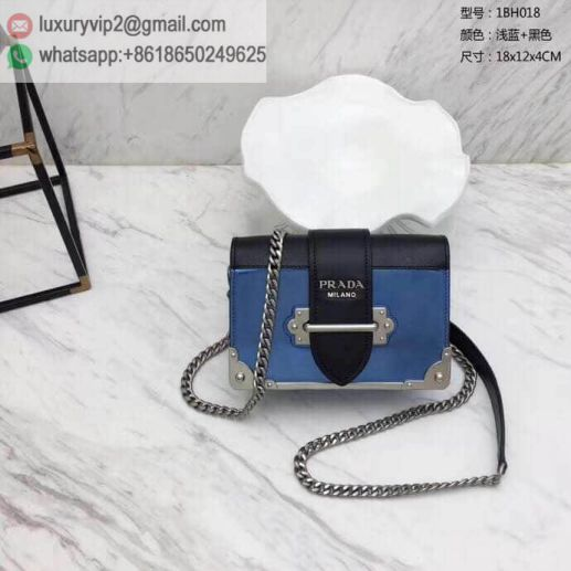 PRADA 2018 Cahier 1BH018 Women Shoulder Bags