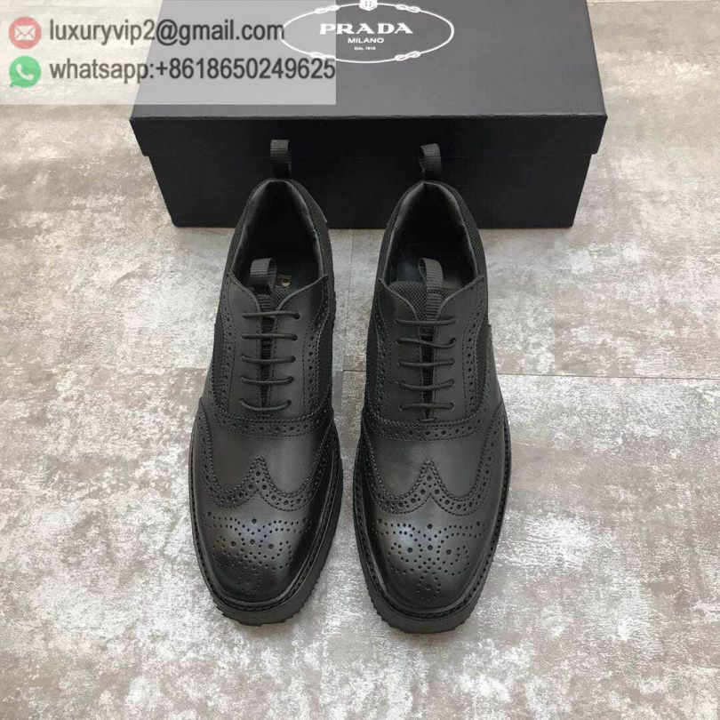 PRADA 2018 Causal Men Leather Shoes