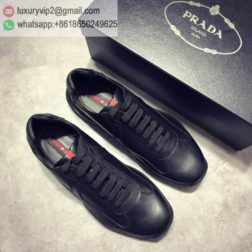 PRADA 2018 Causal Leather Shoes Men Sneakers