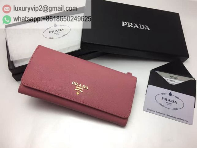 PRADA Leather 1M1132 Pink Women Wallets