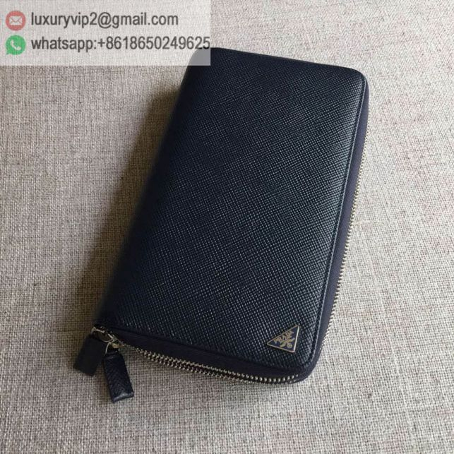 PRADA Bi-Zip 2M1303 Navy Men Wallets