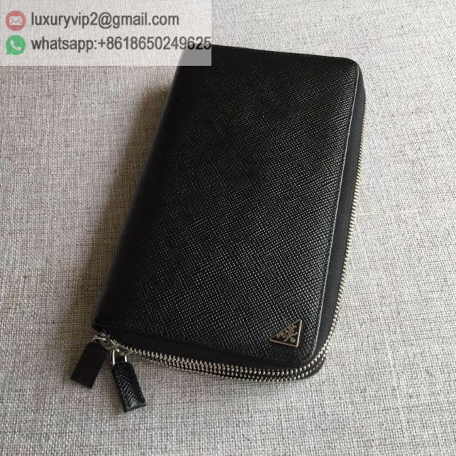 PRADA Bi-Zip 2M1303 Black Men Wallets