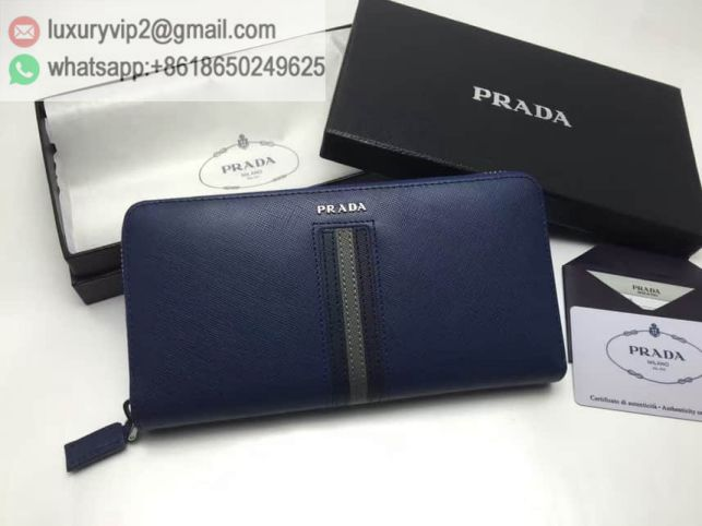 PRADA Leather Zip 2M1317 Men Wallets