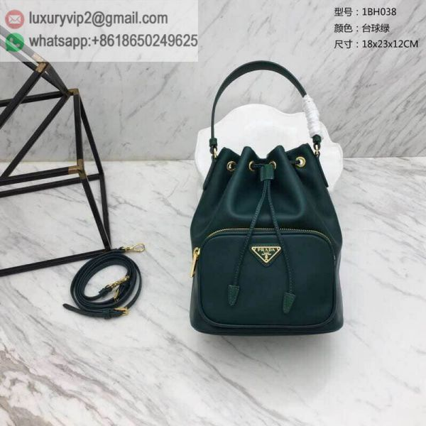 PRADA Leather 1BH038 Women Bucket Bags
