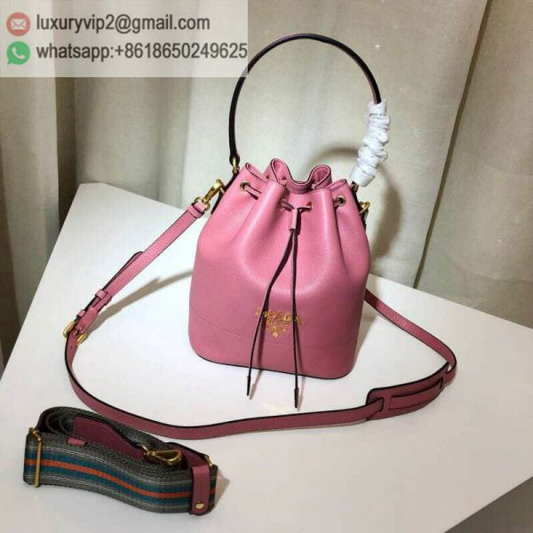 PRADA Leather 1BE018 Women Bucket Bags