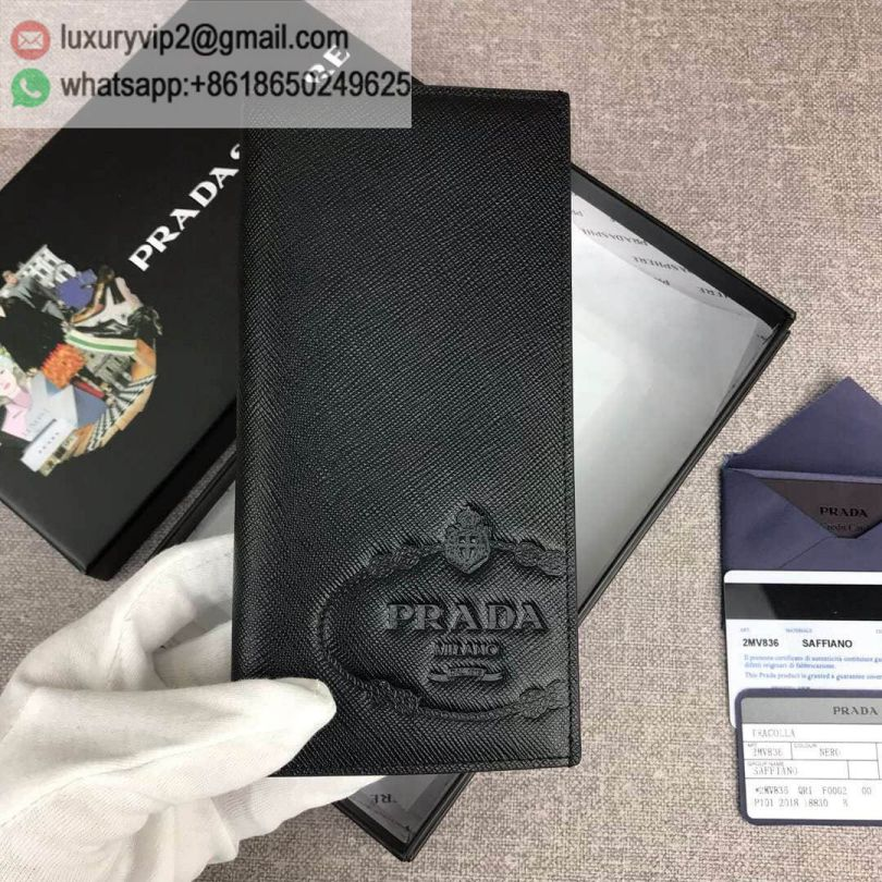 PRADA 2MV836 Black Men Wallets