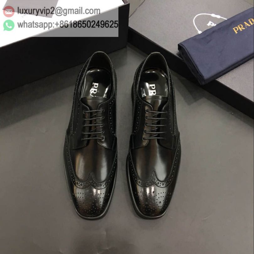 PRADA Leather Patent Men Causal Shoes