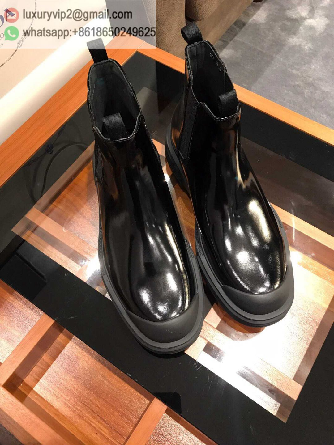 PRADA Leather D 2019 Men Ankle Boots