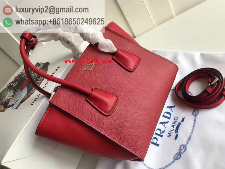 PRADA 1BA025 Leather Women Tote Bags