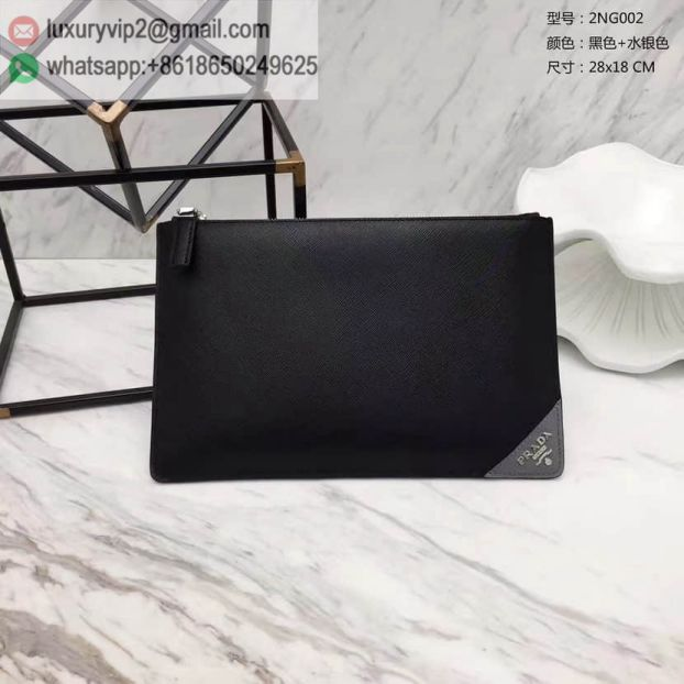 2017 PRADA Limited Edition 2NG002 Men Clutch Bags