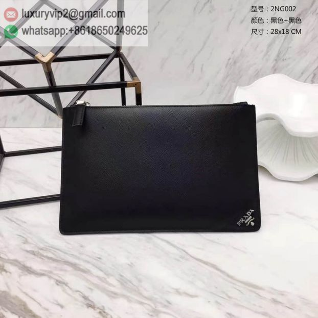 2017 PRADA Black Limited Edition 2NG002 Men Clutch Bags