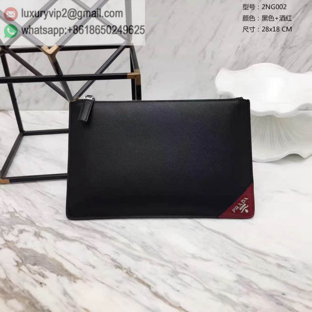 2017 PRADA Red Limited Edition 2NG002 Men Clutch Bags