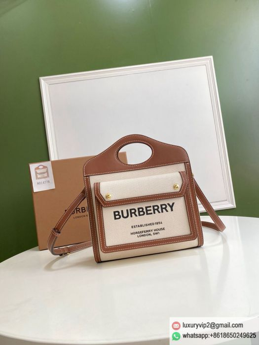 Burberry Canvas Horseferry Shoulder Bags