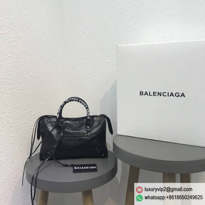 Balenciage City S limited edition Graffiti Motorcycle bag Tote Bags