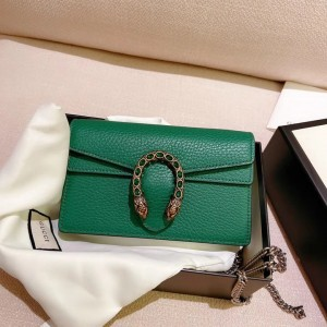 Gucci women's mini Bacchus green chain shoulder strap purse small hand bag